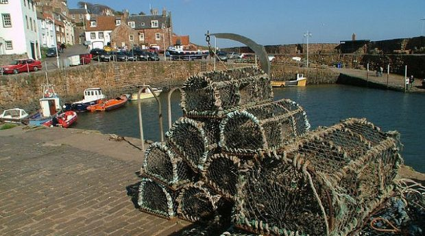 A photo of Crail with fishing baskets