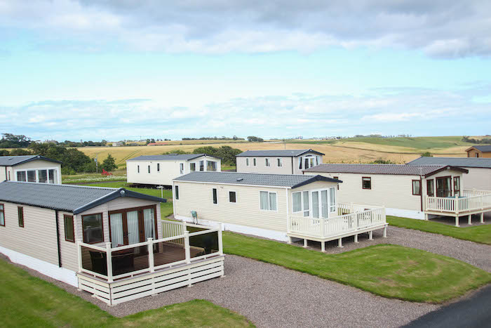 Holiday homes at Silverdyke Caravan Park