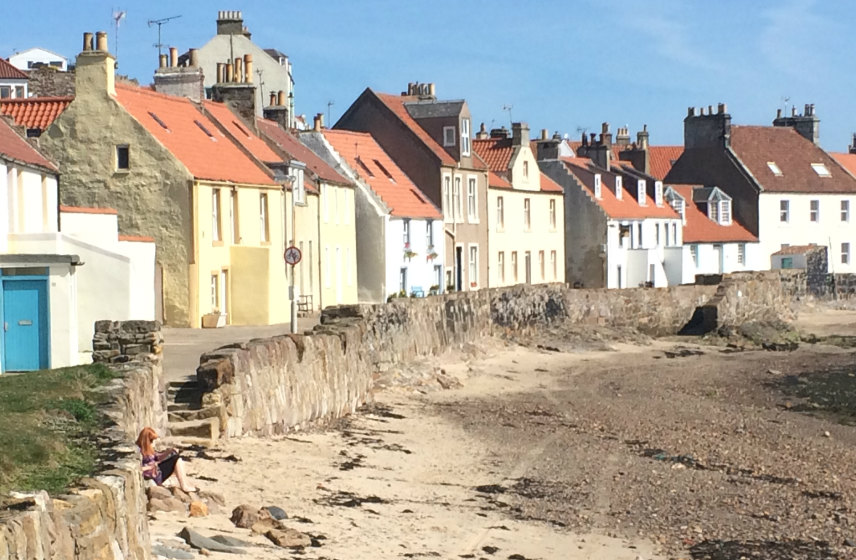 Fife coast with picturesque houses