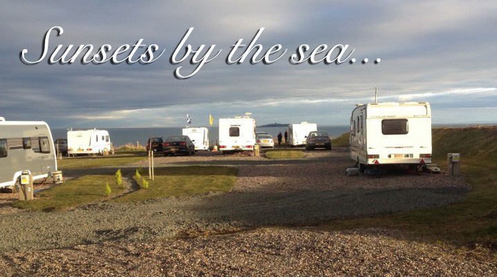 Caravans with a sea view at Silverdyke Park