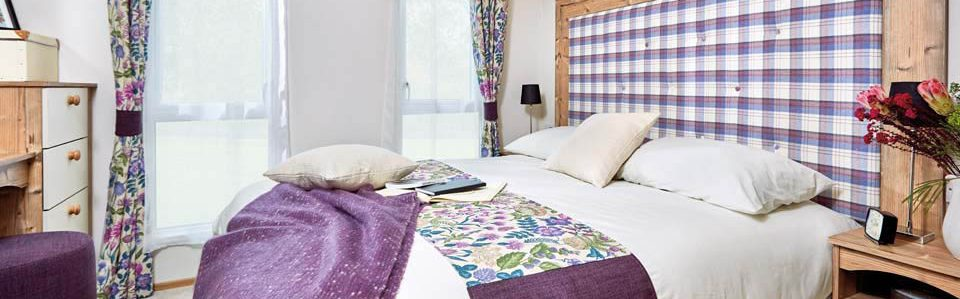Luxury bedroom in Abi Elan holiday home at Silverdyke Park