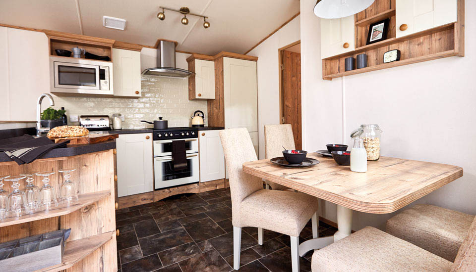 Luxury kitchen in a holiday home at Silverdyke Park