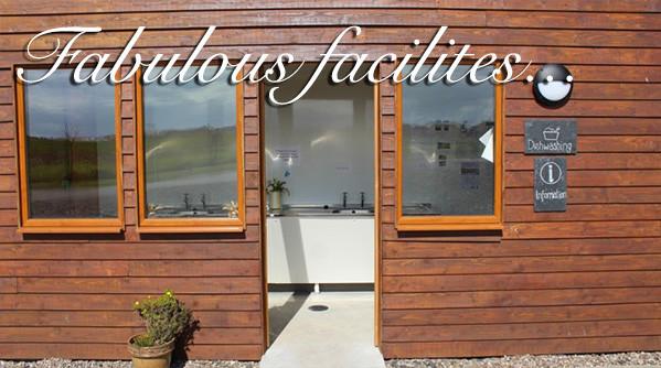 Dishwashing facilities at at Silverdyke Park with text saying fabulous facilities