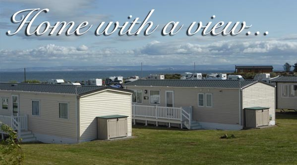 Holiday homes at Silverdyke Park with text saying home with a view
